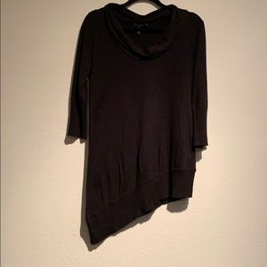 Black Scoop Neck Tunic
